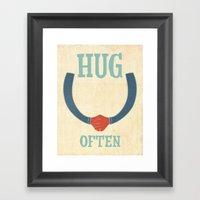 Hug Often Framed Art Print