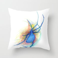 as she counted the spiders Throw Pillow