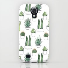 watercolour cacti and succulent Slim Case Galaxy S4
