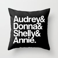 Windom's Queens (Black Lodge) Throw Pillow