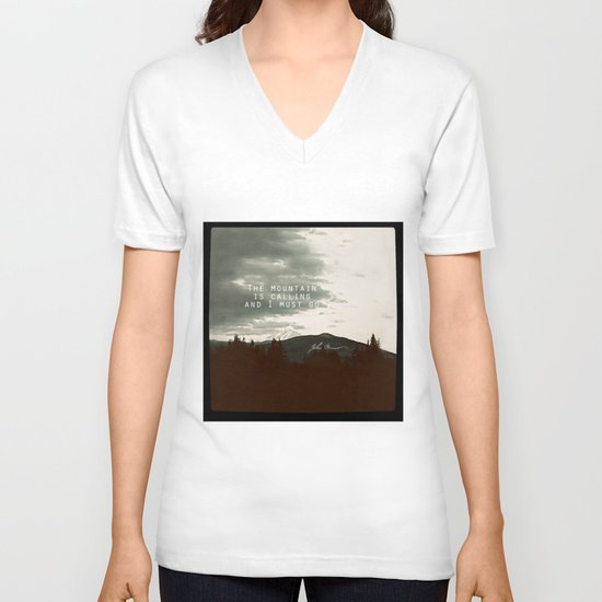 The Mountain is Calling V-neck T-shirt
