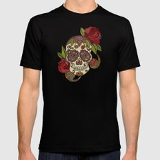 Sugar Skull Mens Fitted Tee Black SMALL