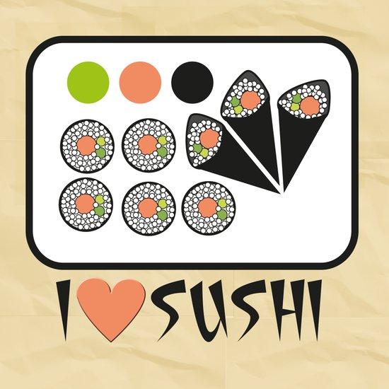 I love sushi Art Print