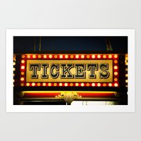 Tickets Art Print
