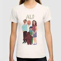 Alf Womens Fitted Tee Natural SMALL