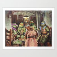 The Pizza Eaters Art Print