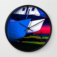 Water Blade Wall Clock