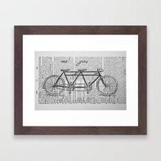 Me & You Tandem Bike Framed Art Print