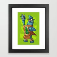 Framed Art Print featuring Zucchini by Artistic Dyslexia