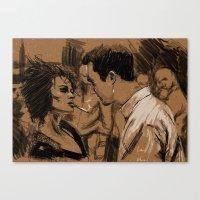 Marla & Tyler Doodle Canvas Print