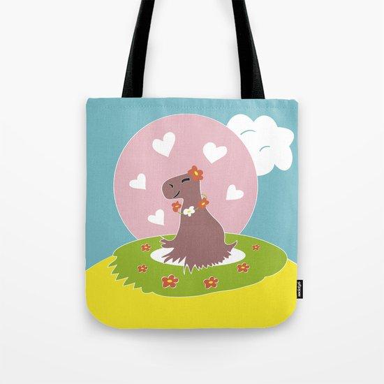 Capybara in Love Tote Bag