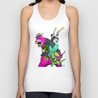Floating BunnyHead Western Action  Unisex Tank Top