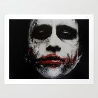 joker Art Prints featuring Joker by waynemaguire777