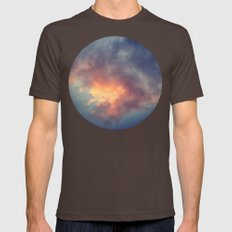 Fiery cloud Mens Fitted Tee Brown SMALL