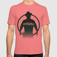 WESTWORLD Mens Fitted Tee Pomegranate SMALL