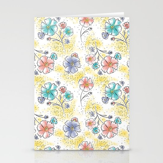 Brilliant Blooms Stationery Card