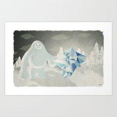 Un yeti Art Print