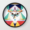 Past Soldier, Future Dreamer Wall Clock