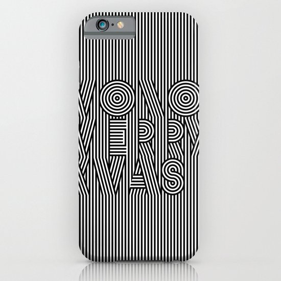 Mono Merry Xmas iPhone & iPod Case