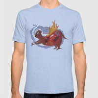 BEAST EATING MONSTER  Mens Fitted Tee Athletic Blue SMALL