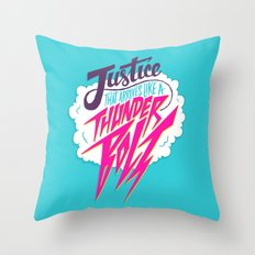 Justice Like A Thunderbolt Throw Pillow