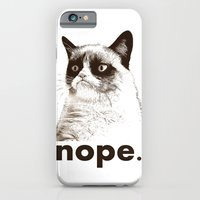 iPhone & iPod Case featuring GRUMPY CAT - Nope (version 2) by John Medbury (LAZY J Studios)