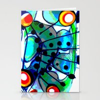 Abstract Explotion Stationery Cards