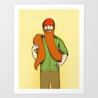 Mr. McBeardy Art Print