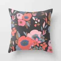 Dakota Flower Throw Pillow