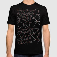 Seg with Red Spots Mens Fitted Tee Black SMALL