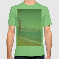 A Golden Day at the Beach Mens Fitted Tee Grass SMALL