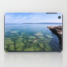 Serenity Swim in Lake Superior iPad Case