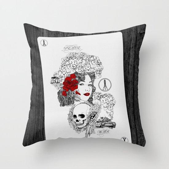 Peace & War Throw Pillow