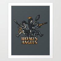 HAYAO'S ANGELS Art Print