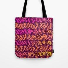 Fur Stripes Tote Bag