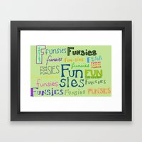 Funsies, 2 Framed Art Print