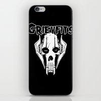 Grievfits (white) iPhone & iPod Skin