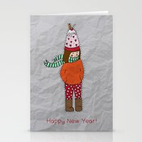 New Year Girl!  Stationery Cards