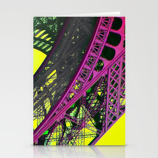 purple paris Stationery Card