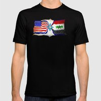 Flag Mens Fitted Tee Black SMALL
