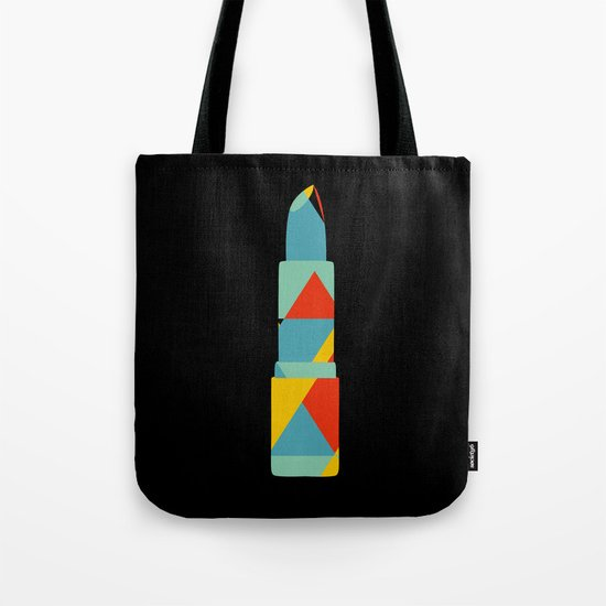 Lipstick Hues on Black Tote Bag