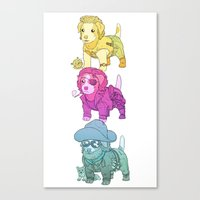 Kurt Russell Terrier Canvas Print