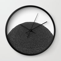 Black sphere Wall Clock