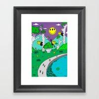 Day & Night Trippy Framed Art Print