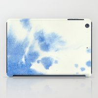 Blue watercolor iPad Case