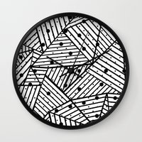 Abstract Spots Close Up Wall Clock