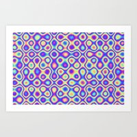 Pattern 60's like Art Print