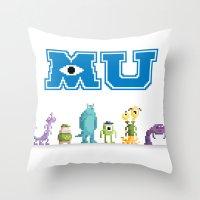 Pixel Monsters Universit… Throw Pillow