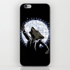 Howling at the Disco Moon iPhone & iPod Skin