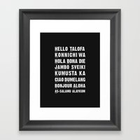 Hello Language Framed Art Print